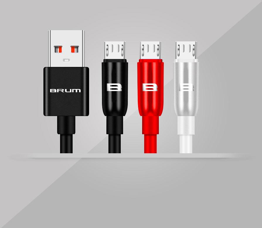 Кабель USB BRUM Silicon U015