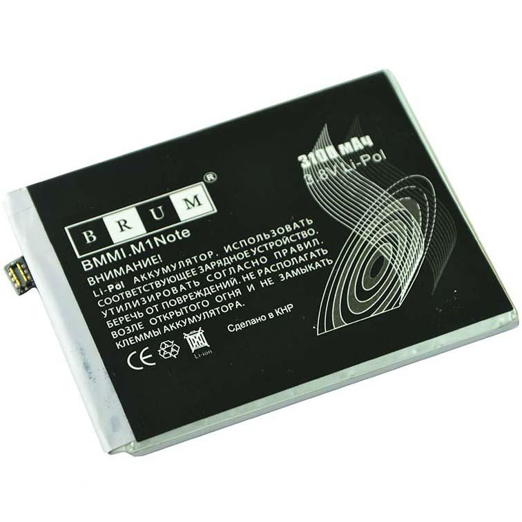 Аккумулятор Brum StandardMeizu M1 Note (BT42) (3100mAh)