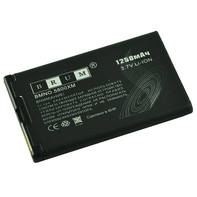 Аккумулятор Brum Standard Nokia 5800 (BL-5J) (1250mAh)