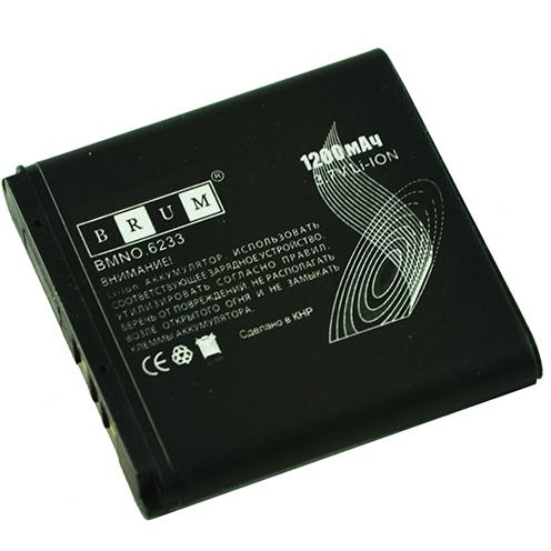 Аккумулятор Brum Premium Nokia 6233 (BP-6M) (1200mAh)