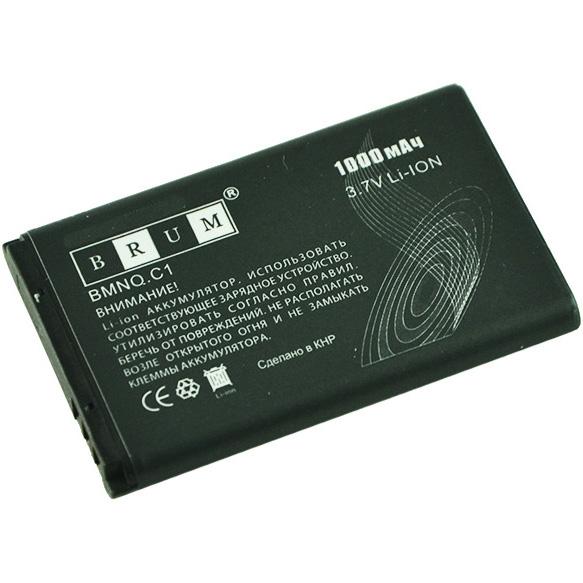Аккумулятор Brum Standard Nokia C1 (BL-5CB) (1000mAh)