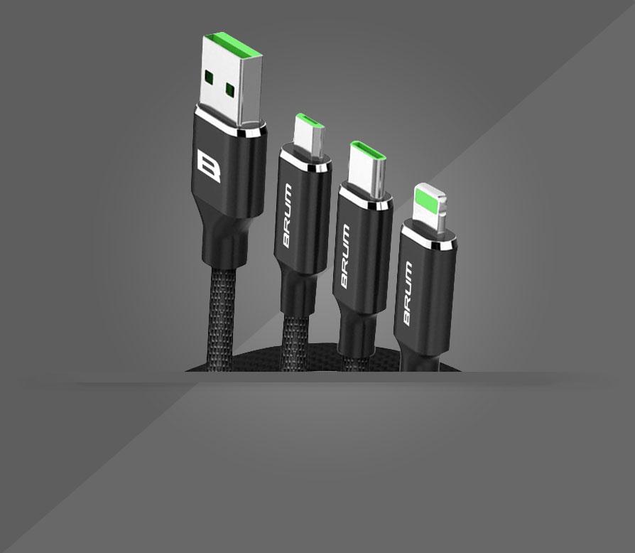 Кабель USB BRUM Multi U016 (3 в 1)