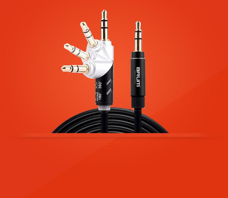 AUX кабель 3.5mm BRUM UX005