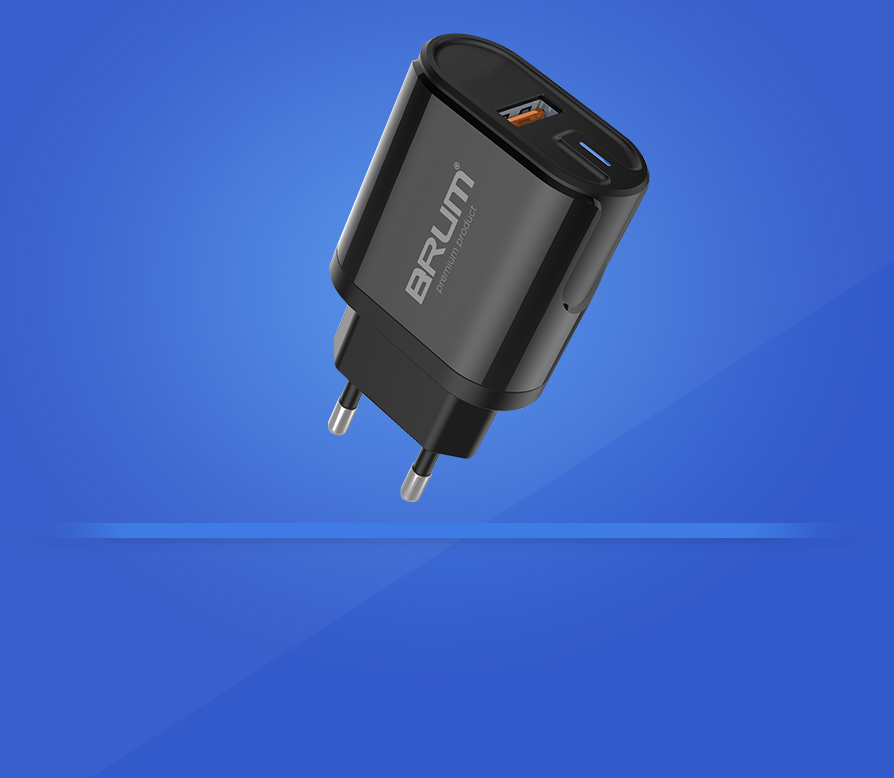 Зарядное сетевое BRUM BM-SQ-004 QC3.0